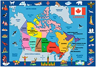 Fun Rugs Fun Time Collection Home Kids Room Decorative Floor Area Rug Map Of Canada -5'3