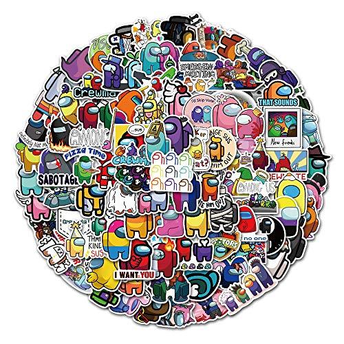 """Huantai """"Among Us"""" Aufkleber für Laptop, Aufkleber für Wasserflasche, Motorrad, Fahrrad, Skateboard, Gepäck, Graffiti, 100 Stück"""