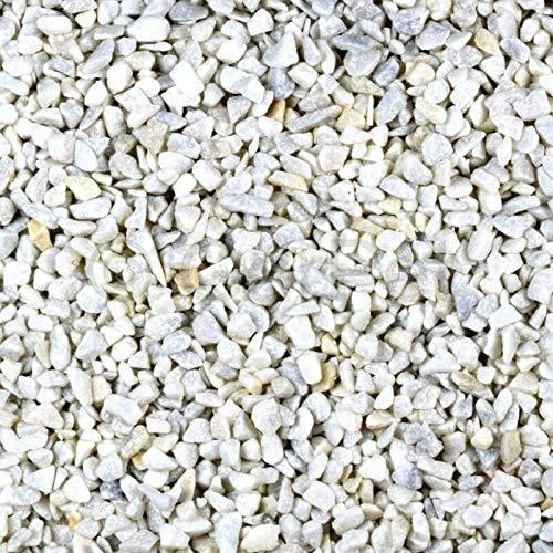Zierkies 25 kg 9-12 mm Carrara Weiß Marmor Splitt Aquarium Garten Kies Steinteppich