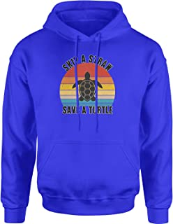 Expression Tees Skip A Straw Save A Turtle Vsco Unisex Adult Hoodie