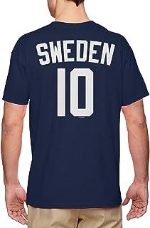 Sweden Football Jersey - Swedish National Soccer Men`s T-Shirt