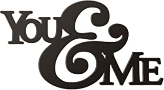 P. Graham Dunn You and Me Ampersand Black 15.25 x 27.75 Wood Cutout Wall Word