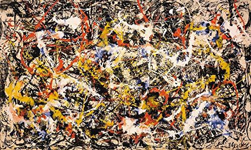 Berkin Arts Jackson Pollock Giclee Kunstdruckpapier Kunstdruck Kunstwerke Gemälde Reproduktion Poster Drucken(Konvergenz)