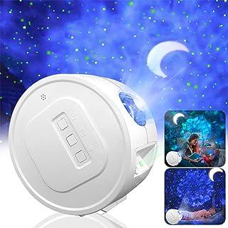 Star Projector,Garwarm Starry Sky Projector,3 in 1 Ocean Wave Laser Projector w/LED Nebula Cloud& Moon,Voice Control&Timer...