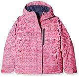 Columbia Chaqueta repelente al agua para niña, Alpine Free Fall Jacket, Nailon, Rosa (Cactus Pink Texture Print), Talla S, 1557121