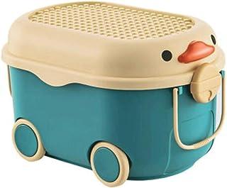 Lpiotyucwh Paniers et Boîtes De Rangement, Boîte de rangement à grande capacité avec roues, boîte de rangement de jouets, ...