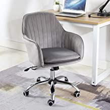 JXYu - Swivel Chairs Computer Chair Home Comfortable Sedentary Chair, Ergonomic Office Chair, Study Chair with 360° Rotation, Flocked Cushion, Color Choice