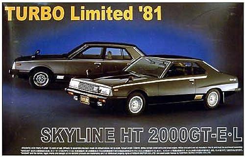 Aoshima Bunka Kyozai 1. 2.4. Die Skyline No.SP Skyline HT 2.000GT-E   Turbo Limited 8.1.
