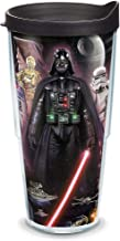 Tervis 1087375 Star Wars - Collage Tumbler with Wrap and Black Lid 24oz, Clear