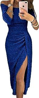 Aleumdr Vestito Donna Senza Spalline Abito Donna Sexy Taglia S-XL