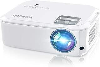 WiMiUS プロジェクター 5500lm 1080PフルHD 1920×1080リアル解像度 ホームプロジェクター 300インチ大画面 二つ内蔵HIFIスピーカー 台形補正 HDMI/USB/VGA/AV/パソコン/スマホ/タブレット/ゲーム機など接続可能 三年保証