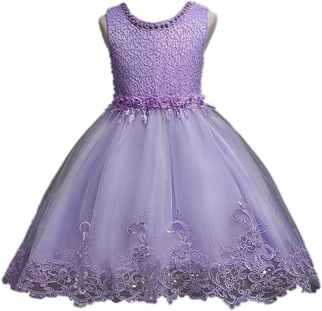 shaobeiq Children's Dress Princess Tutu Wedding Flower Girl Dress Lace Tulle Skirt