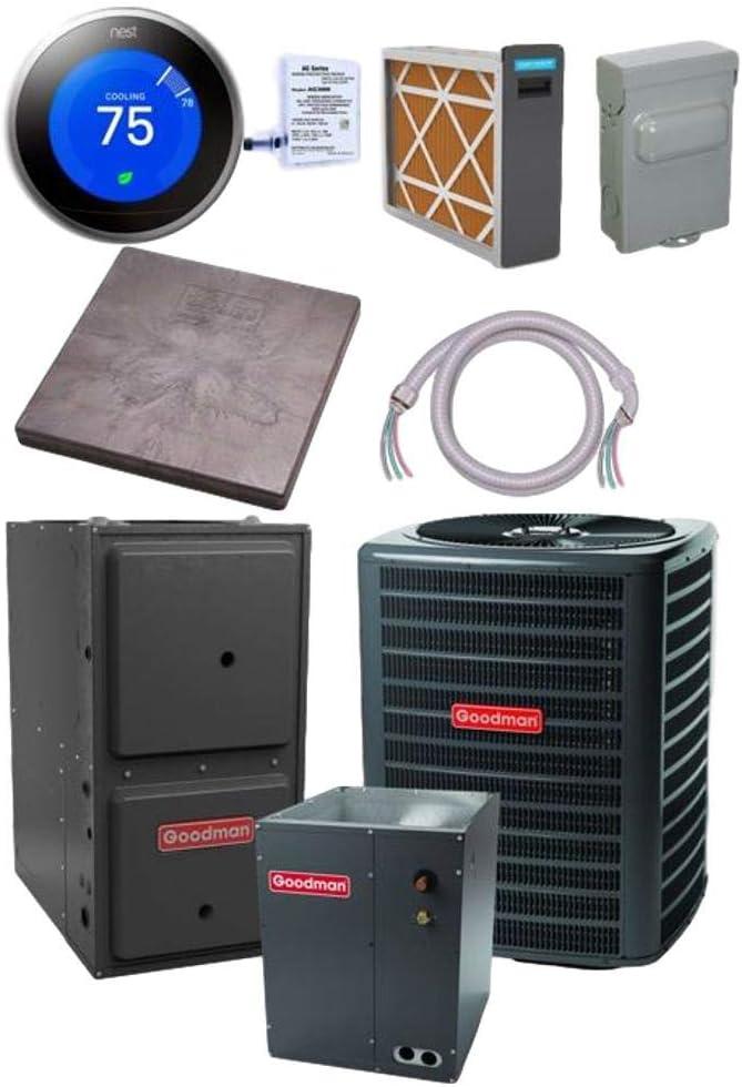Goodman 3.5 TON 15 SEER Conditioner New popularity Air Portland Mall CAPF49 GSX16S421 bundle