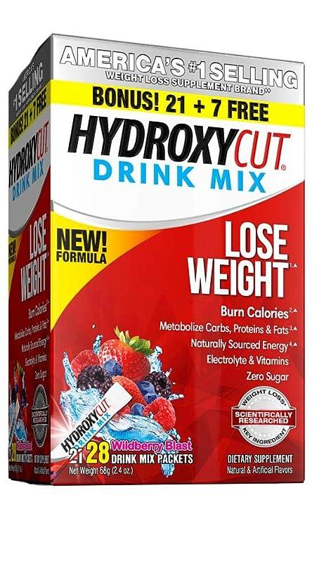 とんでもない減らす乳剤Hydroxycut Pro Clinical Hydroxycut Wild Berry - 21 Packets