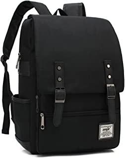 Japan Korean Style Backpack Daypack Laptop bag School Bag For Women Men/Teen Girls Boys (all black)