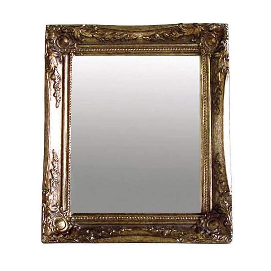 によってテンポ私たちのSPICE OF LIFE 鏡 額縁 アンティークスタイルミラー ANCIENT シルバー Sサイズ 28×33.5cm SQM801SSV