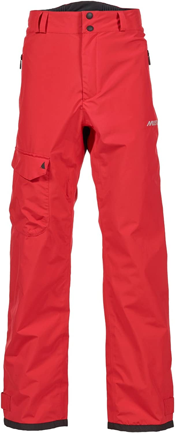Musto Solent Gore-Tex Hi-Back Sailing Yachting and Dinghy Trousers True Red. Waterproof & Breathable