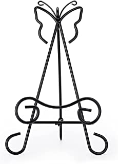 UIKI Garden Stone Stand,Garden Stone Easel,Stone Display Stand, Iron Display Stand (Set of 1)