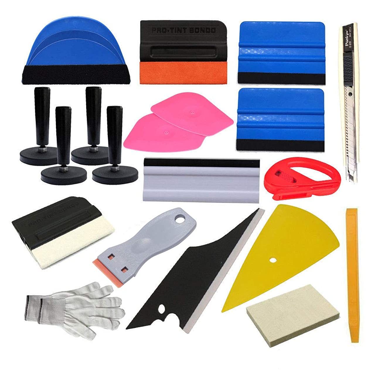 CARLAS Car Vinyl Wrap Tool Window Tint Kit for Vinyl Film Tinting Scraper Application