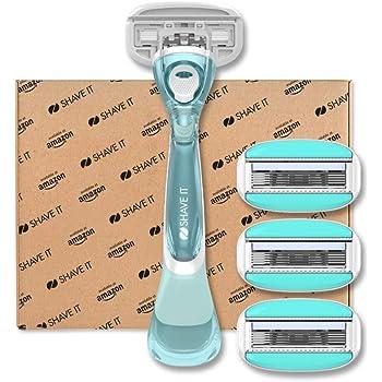 Shave It - Rasoio a 5 lame da donna, con manico e 4 testine
