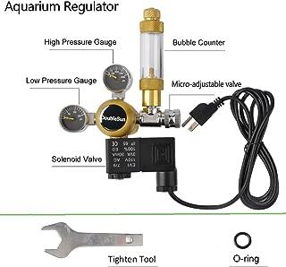 DoubleSun Hydroponics Aquarium CO2 Regulator Made of Brass-Bubble Counter Check Valve..