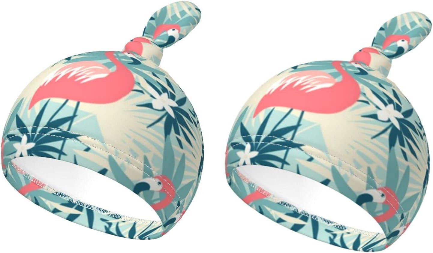 Baby Ranking TOP10 Beanie Caps Flamingo Elegant and Skinfriendly Plants Tropical Knott