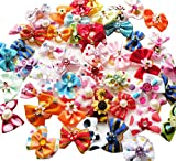 Rimobul Yorkie Pet Hair Bows Rubber Bands - Pack of 50