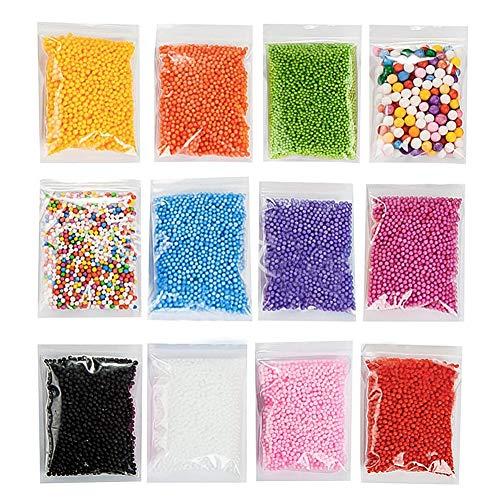 Vi.yo, confezioni di micro palline in Styrofoam, sfere colorate per imbottitura, decorazione, da usare per slime o come perline per creazioni artistiche e fai da te (Multicolor)