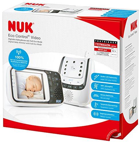 NUK Babyphone mit Kamera Eco Control+ Video, mit Gegensprechfunktion & Temperatursensor, frei von hochfrequenter Strahlung im Eco-Mode - 5
