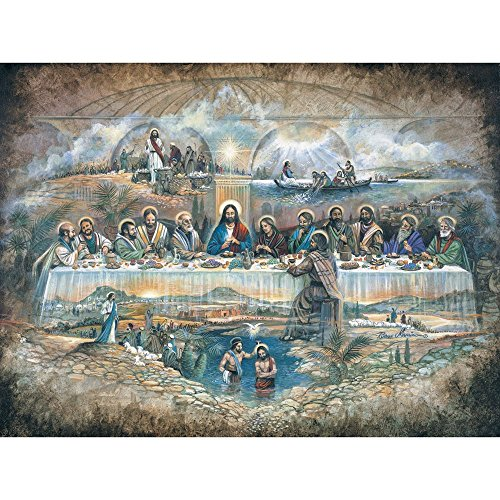 Bits and Pieces 500 Piece Jigsaw Puzzle per Adulti Ultima Cena 500 Pc Religiosi Jigsaw By Artist Ruane Manning