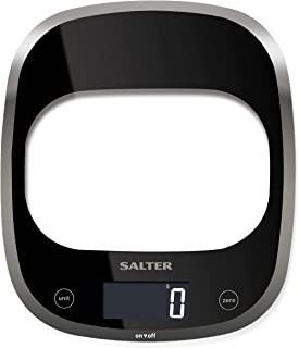 Salter Curve Digital Kitchen Weighing Scales – Sleek Glass Design Electronic Cooking Scale Appliance for Home and Kitchen,...