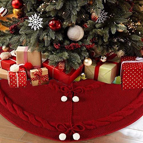 WYLJD Boże Narodzenie nowości dekoracje dziewiarskie spódnice pod choinkę czerwona choinkę spódnice mahua ozdoby Boże Narodzenie Nowy Rok