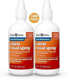 Basic Care Saline Nasal Spray Twin Pack, 6 Ounce