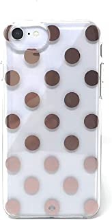 Kate Spade New York Large Polka Dots Rose Gold/Clear Protective Case For iPhone 8 / iPhone 7 / iPhone 6