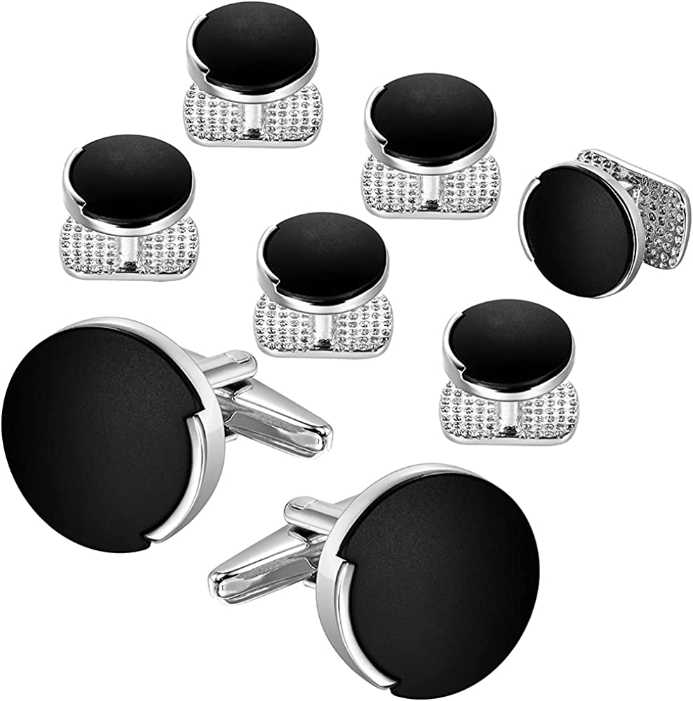 Cufflinks and Tuxedo Shirt Studs Set, Cufflinks for Men and Women, Tuxedo Shirt Studs Set for men, Business Wedding