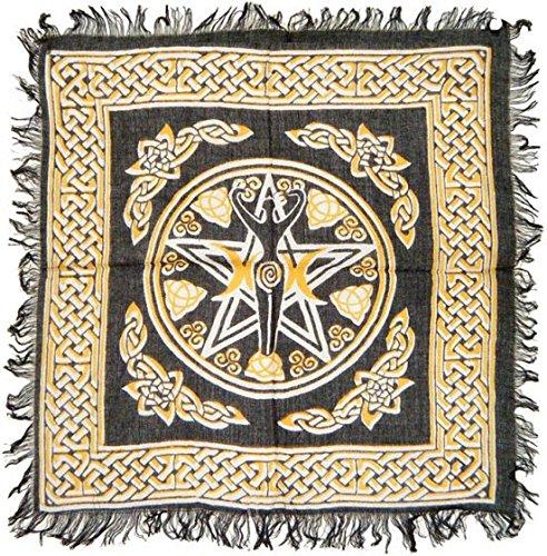 Pentagram Goddess Altar Cloth 18'x18'