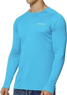 Men's UPF 50+ UV Sun Protection Outdoor Running Fishing Rash Guard Swim Shirts for Men