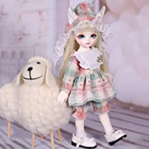 1/6 SD Dolls BJD Doll 10 Inch 12 Ball Jointed Doll DIY Toys with Full Set Clothes Shoes Wig Makeup Best Gift for Girls,C