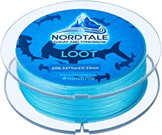 Nordtale Loot Braided Fishing Line 6lb to 80lb Test Freshwater Saltwater Fishing Line Abrasion Resistant Zero Stretch Fade Resistant 150yards 300yards 500yards