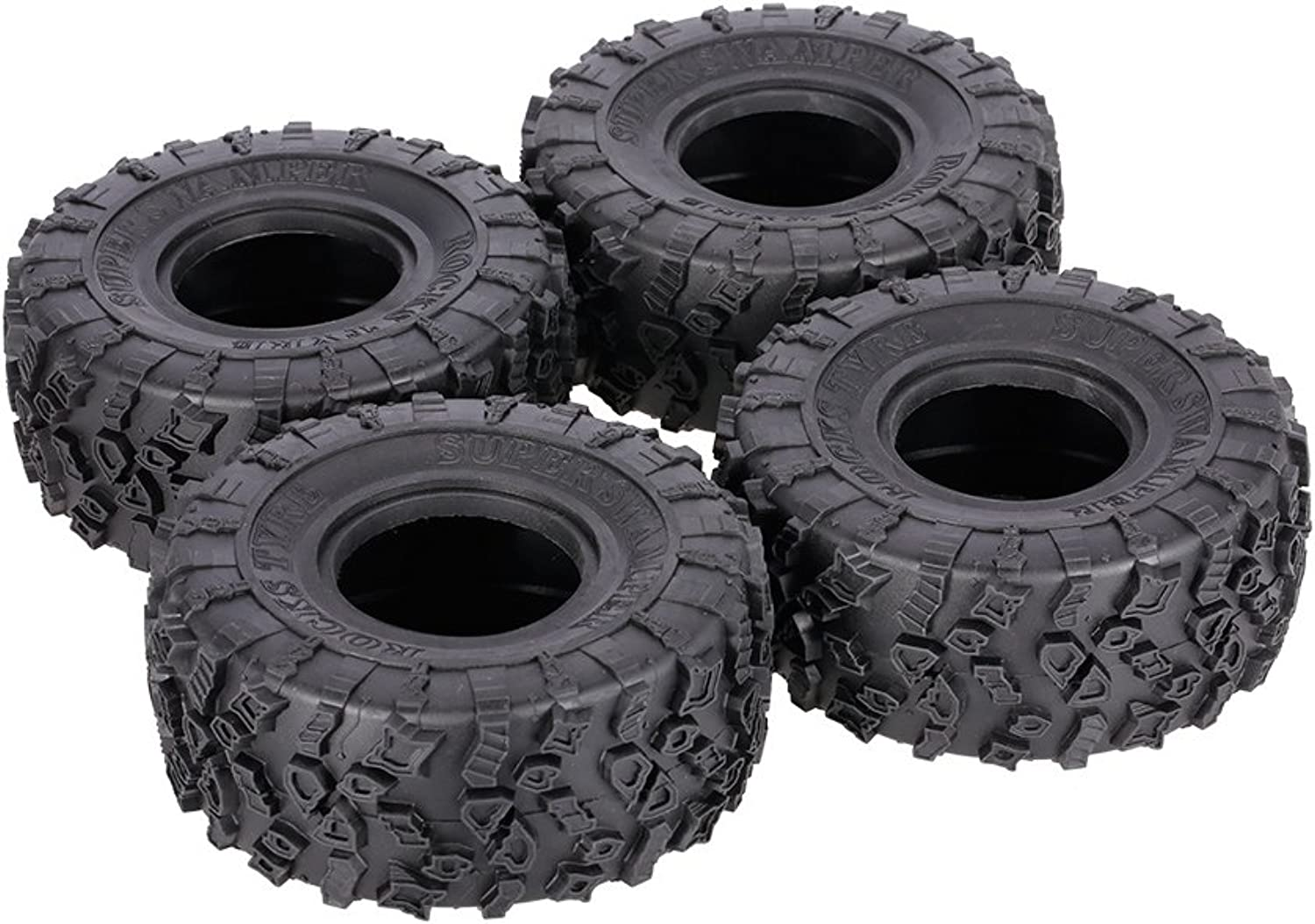 LaDicha 4Pcs AUSTAR AX4021 2.2 Inch 1 10 Rock Crawler Tire with Metal Hub for Traxxas SCX10 AXIAL RC Car