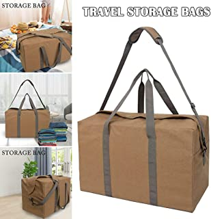 Leorealko Canvas Travel Bag Soft Canvas Large Capacity Canvas Canvas Holdall Handbags Home Clothing Finishing Storage Bag Anti-Theft Canvas Bags