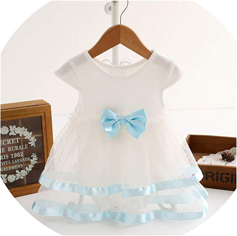 Ivyi Bow Clothes Party Jumpsuit Princess Dress O K Sleeveless Cute Dress 1903 White 18M