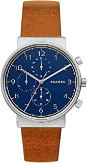Skagen Men's SKW6358 Ancher Brown Leather Chronograph Watch