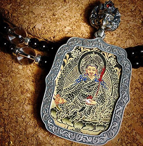 QWX Buda Colgante Adorno Talismán para Mujer Colgante Thangka Joyas Artículos Preciosos Un Amuleto simbólico Adecuado para budistas, Padmasambhava