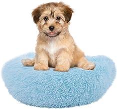 TOPINCN Plush Donut Pet Bed Warm Soft Pet Calming Bed Dog Cat Round Cuddler Kennel Soft Puppy Sofa Cat Cushion Bed
