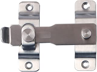 Alise Heavy Duty Flip Latch Gate Latches Bar Latch Safety Door Lock with Fixed Screw,MS8001 Stainless Steel Brushed Finish