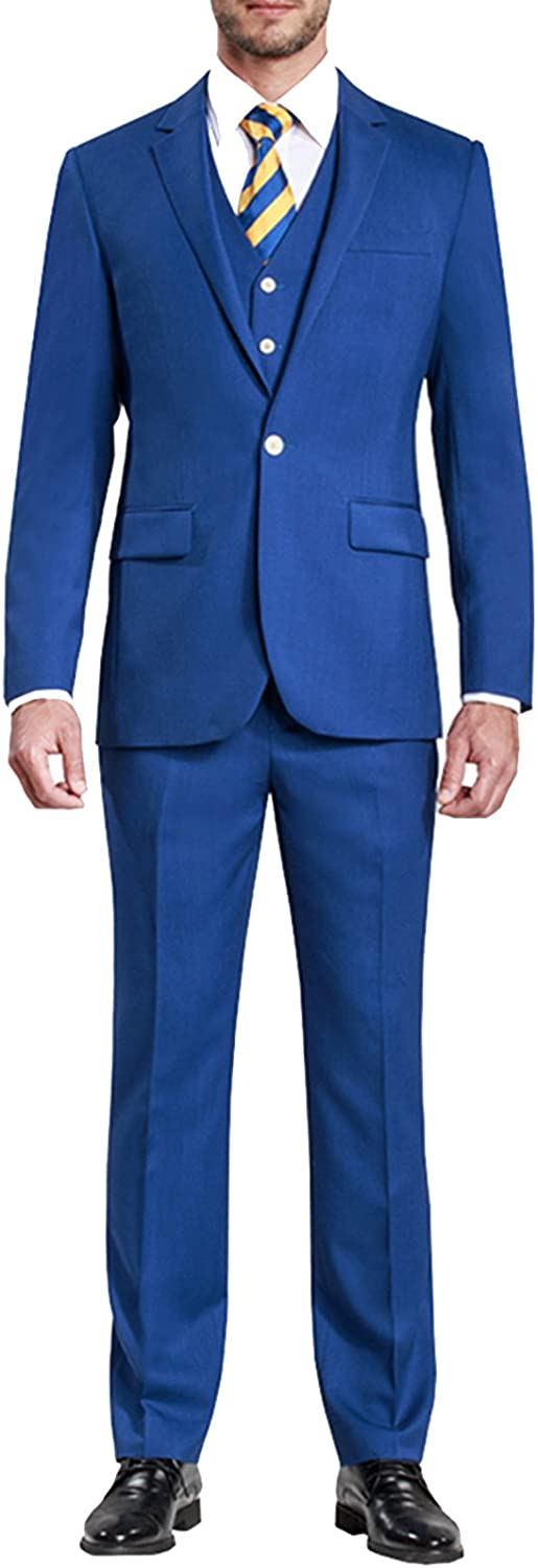 Baltimore Mall HBDesign Mens 3 New life Piece 1 Button Slim Fit Notch Formal Lapel Pure