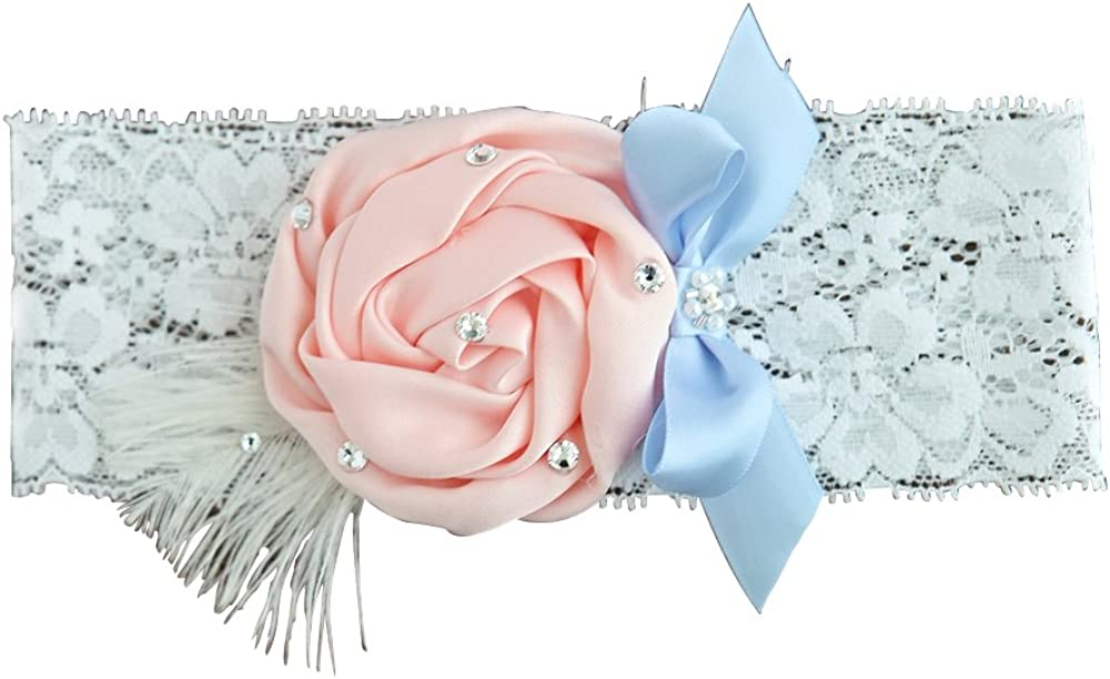 KateMelon Wedding Accessories White Pink Garter Department store Popular shop is the lowest price challenge Lace Blue