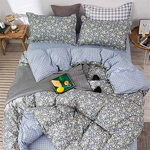 Duvet Cover Set 3 Pieces, Nordic Fashion Single Double King Bedding Set Microfiber Soft Duvet Set with Zipper Closure Quilt Case and 2 Pillowcases (Pink Geometry,200x200cm)