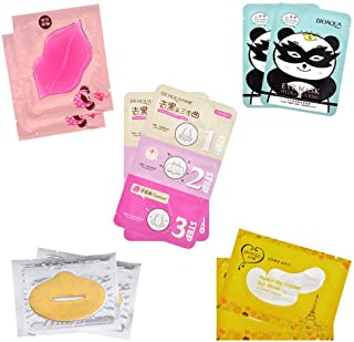 CCBeauty Under Eye Gel Pads Patches for Eye Bag Dark Circle Treatment Remover Lip Nose Blackhead Strip Mix Style 10Pcs
